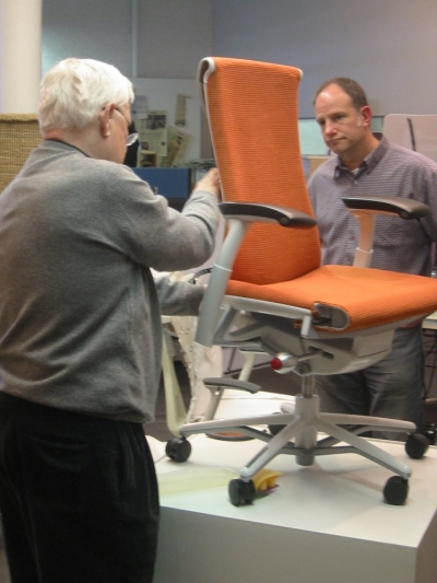 Stumpf and Weber in 2006 with a prototype