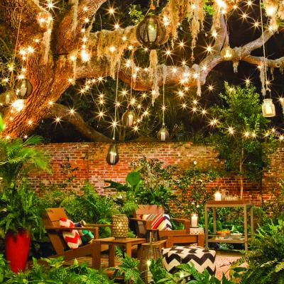 Target shared a lush garden lit with lanterns and string lights on its Target Style Instagram account.