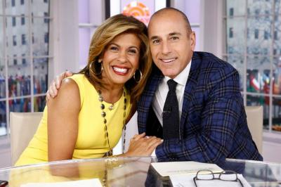 Hoda Kotb and Matt Lauer on 'Today,' which will feature several Super Bowl commercials next week ahead of the game.