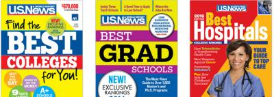 Three rankings published by U.S. News & World Report.