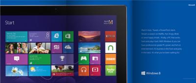 A paid Windows 8 magazine ad