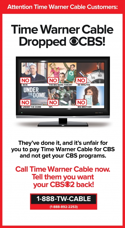 The latest print ad from CBS