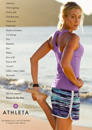 Athleta ad: 'Power to the She.'