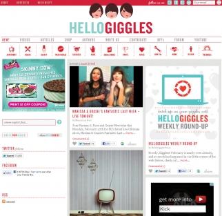 Zooey Deschanel's HelloGiggles