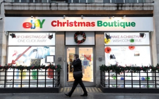 EBay opened a Christmas pop-up store in London last year.