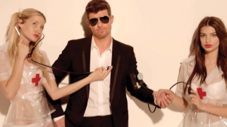 Robin Thicke's 'Blurred Lines' video for RadioShack