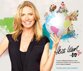 Heidi Klum for AOL