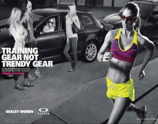 Oakley's latest campaign takes a jab at the workout-wear-as-leisure-wear trend.