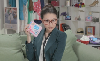 An Xiaoqi's videos have taken a lighthearted look at period issues.
