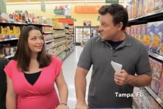 Women featured in local-market-basket price comparison ads are often recruited through parent-teacher organizations.