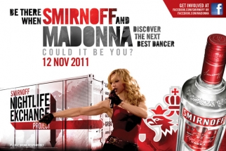 Madonna is partnering with No. 1 vodka brand Smirnoff for a contest.