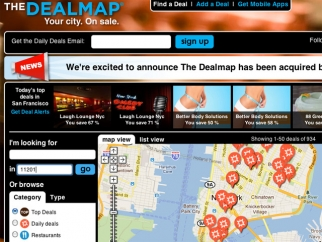 Google has acquired Dealmap, a startup that aggregates daily-deal offers from all over the web.