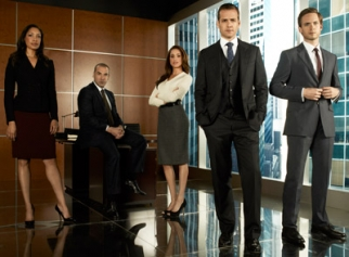 The cast of USA's 'Suits,' which notched increasing impressions on VOD as buzz for the program grew after its premiere.