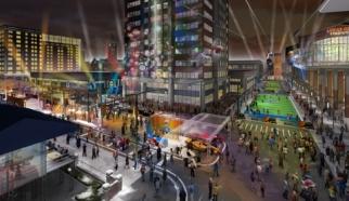 Newest rendering of Super Bowl Village.