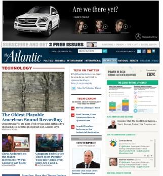 Mercedes ad complements its content on TheAtlantic.com