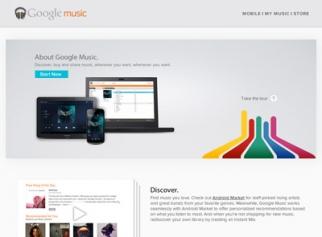 Google Music website
