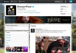 Disney's Twitter 'brand page'