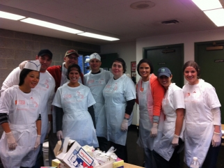 24 /7 Real Media staffers served 200 lunches as part of the company's day of giving back for the holidays.