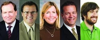 The ANA's Roger Adams and Bob Liodice; P&G's Jodi Allen; Mercedes-Benz's Steve Cannon; and Innocent Drinks' Dan Germain.