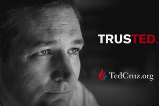 Ted Cruz spot attacking Donald Trump