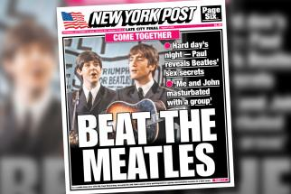 The New York Post has outdone itself with this pervy, puntastic Beatles cover