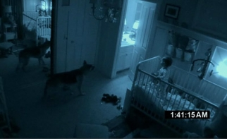 Trailers for 'Paranormal Activity 2' use clips from the first film so as not to reveal much about the sequel.