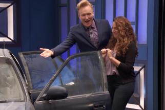 Thanks to Autotrader, Conan helps his assistant buy a new car
