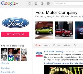 Ford's Google+ profile