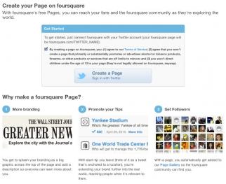 Foursquare pages