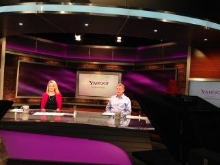Yahoo CEO Marissa Mayer and CFO Ken Goldman during earnings webcast