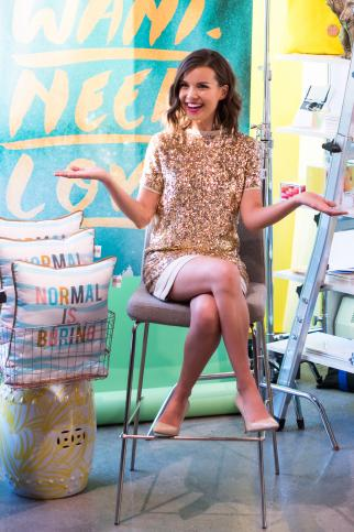 AwesomenessTV's Ingrid Nilsen sported a dress from Rent the Runway at an event at Story last month.