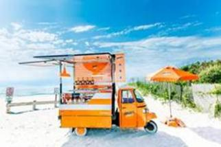 Aperol Spritz Ape Vehicle for Summer