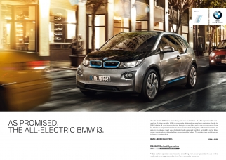 One of the print ads for the BMW i3 EV