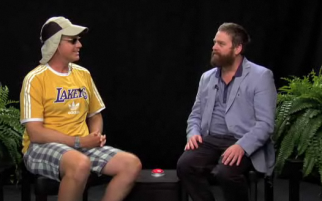 Will Ferrell and Zach Galifianakis on the Funny or Die series 'Between Two Ferns'