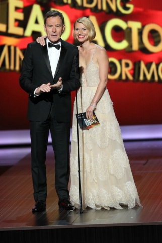Bryan Cranston and Claire Danes at the Emmys