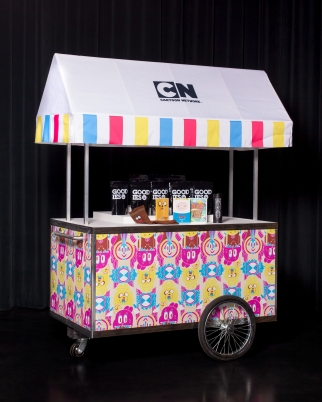 A cart that Cartoon Network is bringing on its road show