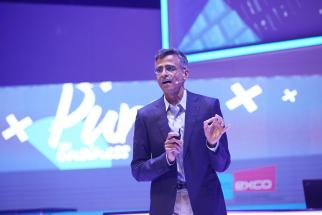 Google executive Sridhar Ramaswamy spoke at the Dmexco conference in Cologne, Germany, on Wednesday.
