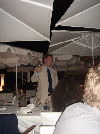. . . while CAA's life of the party Andrew Ault toasts again, in Carmody's place