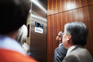 Captivate Network now owns 12,000 digital video screens in offices and elevators.