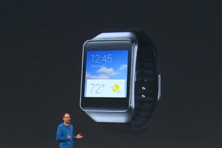 Samsung's new Gear Live smart watch using Android Wear.