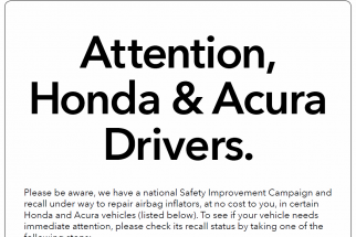 Honda Ad Campaign: There's a Recall, Get Your Car Fixed ASAP