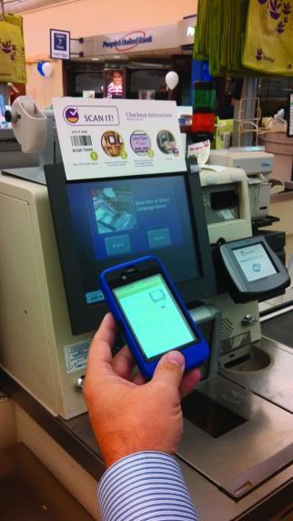 Stop & Shop has a mobile app.