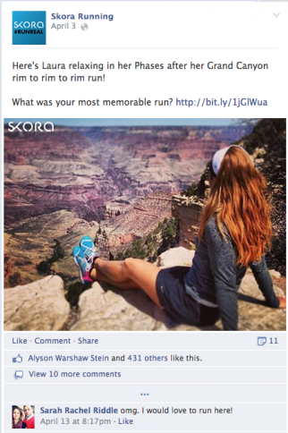 An Instagram-esque photo in an ad on Facebook.