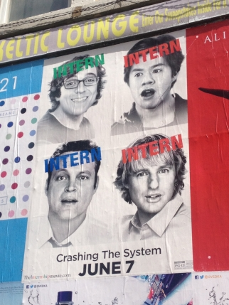 Posters promoting 'The Internship,' a movie set at Google