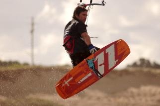 Jose Molla kitesurfing.
