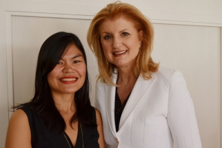 Kat meets Arianna Huffington at an AOL/Ad Age brunch.