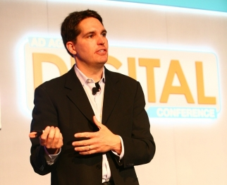 Jason Kilar speaking to the crowd at the Ad Age Digital Conference in 2012
