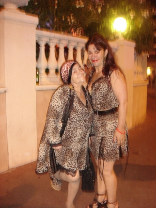 The leopard ladies. Among the many fine sights you'll see on the Croisette.