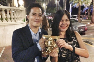 With our Gold Lion, won for work on Unilever.