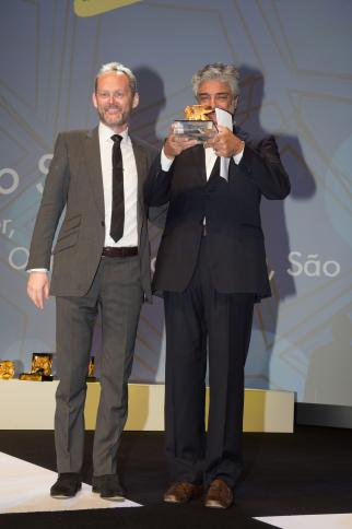 Lion of St. Mark honoree Marcello Serpa with Cannes Lions CEO Phil Thomas.